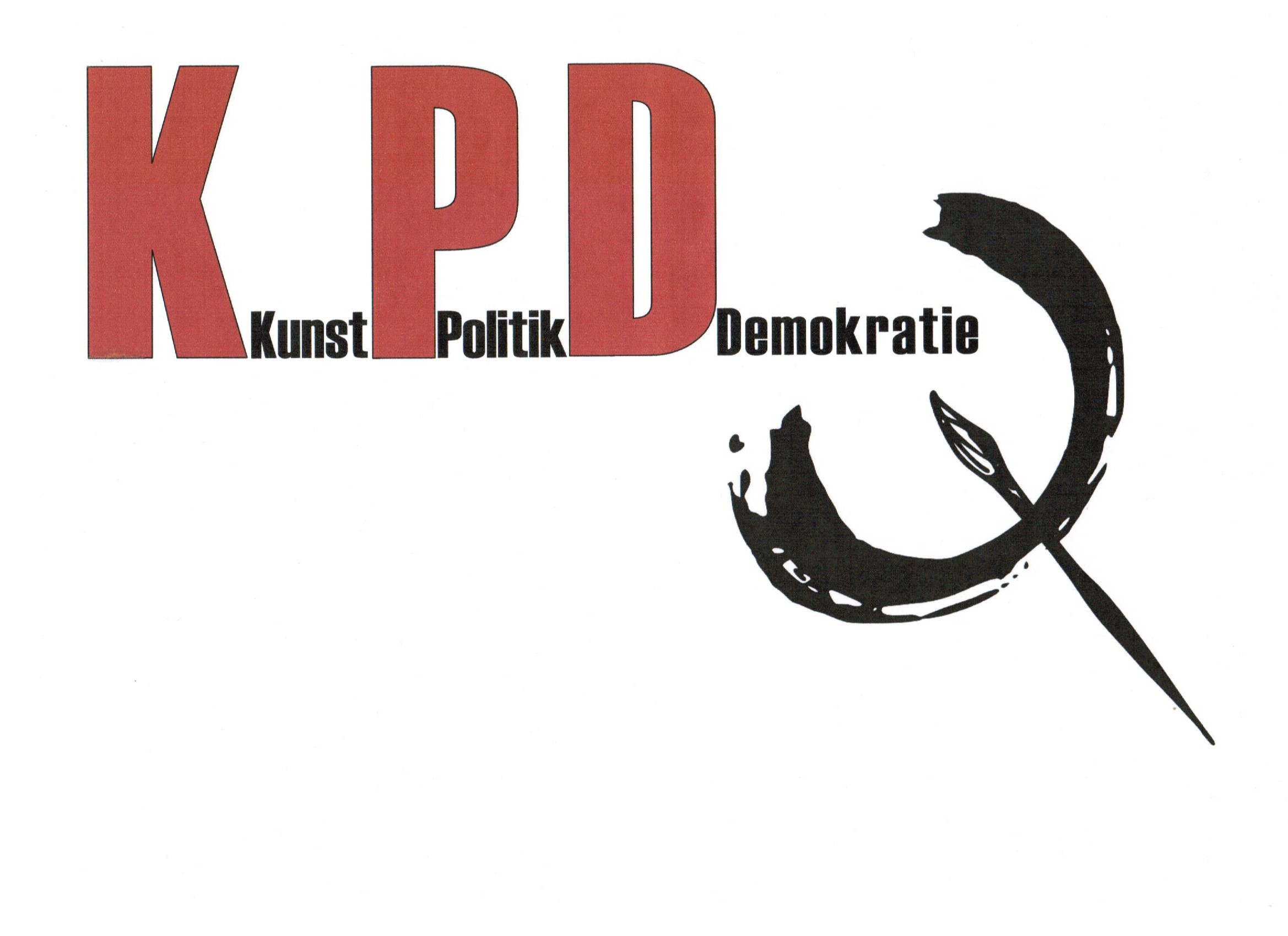 K-P-D Kunst-Politik-Demokratie